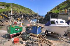 Fishing boats at Portloe harbour, Cornwall (Baz Richardson) Tags: cornwall fishingboats peninsula roseland portloe cornishharbours