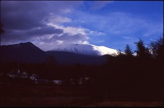 (bensn) Tags: pentax lx mamiya 50mm f2 film slide velvia 100 at400 japan nagano karuizawa asama mountain snow clouds