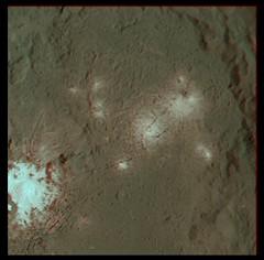 Ceres: Occator anaglyph (PIA19996 / PIA20653) (2di7 & titanio44) Tags: dawn nasa ceres occator