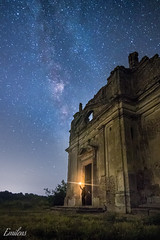 Is There Anybody Out There? (Emilens) Tags: lungaesposizione fotografia lazio prato erba campo pianta notte architettura vialattea stelle paesaggio europa canalemonterano italia candela rovine chiesa oggetto architecture candle church europe field grass italy landscape longexposure meadow milkyway night object photography plant ruins stars uomo emilens