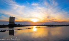 Sunset (Francesco Impellizzeri) Tags: sunset tower water clouds reflections landscape sicilia trapani