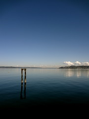 hold the key (rbranchini) Tags: sea water clouds outdoors northwest blues tacoma pillars