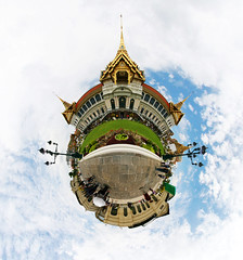 Bangkok Palace (Man) Tags: panorama thailand bangkok palace full spherical 360 planetoid koratanakosin littleplanet