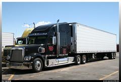 "Freightliner Coronado ""Karns Trucking"" (uslovig) Tags: arizona usa truck unitedstatesofamerica az center lorry camion coronado petro trucking kingman lastwagen lkw stopping freightliner lastkraftwagen vereinigtestaatenvonamerika karns sattelzug"