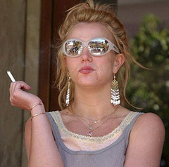 Britney Spears (AmberVonStar) Tags: glasses spears smoking britney hairup