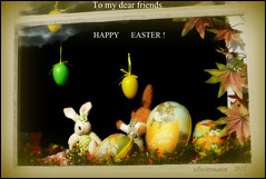 Happy Easter to all my dear friends! (silwittmann) Tags: brazil sc window glass colors brasil easter decoration culture tradition ostern trough 2012 pascoa eastercard pomerode germanheritage silwittmann pousadamax