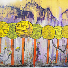 (alterna ) Tags: chile santiago color muro graffiti mujer mural natalia torso boba fotografia nias mujeres muralla par pelo 2012 matta tombola alterna alternativa smides superboba alternaboba