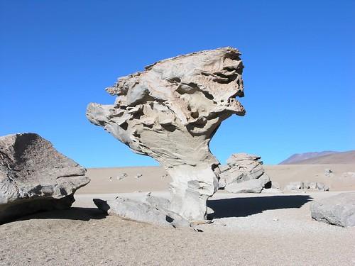 Stone tree - Árbol de Piedra, al norte de Laguna Colorada, Departamento de Potosí, Bolivia