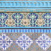 16th century Iznik tiles on the Dome of the Rock