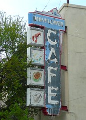 Jackson, MS Mayflower Cafe neon sign (army.arch) Tags: sign mississippi downtown jackson historic ms historicpreservation historicdistrict nationalregister nrhp