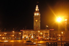 San Francisco - Embarcadero: San Francisco Ferry Building (wallyg) Tags: sf sanfrancisco california ca night landmark clocktower sanfranciscobayarea embarcadero bayarea ferrybuilding portofsanfrancisco beauxarts ferrybuildingmarketplace nationalregisterofhistoricplaces sanfranciscoferrybuilding noreservations nrhp usnationalregisterofhistoricplaces unionferrydepot smwm apagebrown uniondepotandferryhouse edwardsain pageturnbull