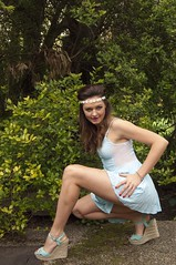 066 (Russell Bruce Photography) Tags: uk portrait woman baby sexy london nature look female garden photography model nikon doll russell dress amy natural head bruce d2x band formal hippy mini skirt graceful modelling sheer pleated canid russellbrucephotography