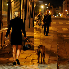 Going back home safely (jmvnoos in Paris) Tags: light woman dog chien paris france dogs night square gold lights golden nikon women lumire or femme galerie 100views nights fr nuit femmes lumires chiens carr greenlane dor dors d300 ilesaintlouis 15faves carrs carre carres nuits dore 5faves 10faves 20faves 25faves dores jmvnoos 10favesext 15favesext 20favesext 25favesext 5favesext
