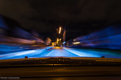 Driving with 8000k HID's (henry_g87) Tags: road longexposure nightphotography car rain nikon driving wideangle d7000 tokinaaf1116mmf28 hidheadlights 8000khids