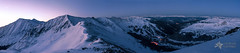 High Country Twilight Panorama (Mike Berenson - Colorado Captures) Tags: winter sky panorama moon mountain ski mountains night spring twilight colorado alpine snowboard rockymountains keystone bluehour fourteener cupid breckenridge frisco allrightsreserved summitcounty arapahoebasin grizzlypeak grayspeak torreyspeak nighthike coloradocaptures copyright2012bymikeberenson nighttimesnowshoetrekabovetimberline