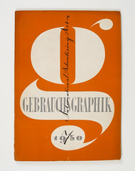 Cover of Gebrauchsgraphik by Heinz Hadem, 1950 (Herb Lubalin Study Center) Tags: magazine cover lettering 1950 gebrauchsgraphik heinzhadem