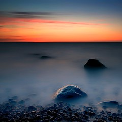 Kembser Strand (dubdream) Tags: ocean longexposure sea seascape beach water strand germany landscape nikon rocks meer baltic ostsee schleswigholstein d800 aftersunset colorimage dubdream