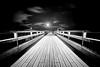 Seebrücke (dubdream) Tags: ocean wood longexposure light sea sky blackandwhite cloud white black water germany deutschland pier nikon baltic sw schwarzweiss schleswigholstein d800 seebrücke heiligenhafen dubdream seebrückeheiligenhafen