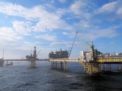 Blue Ekofisk (thulobaba) Tags: bridge norway canon construction steel offshore platform engineering gas norwegian jacket northsea rig oil s7000 g12 conocophillips saipem ekofisk