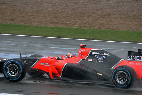 Timo Glock's Marussia at Silverstone