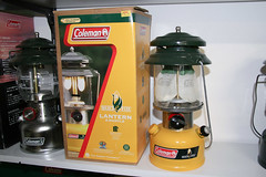 Lamp collection (Matthijs (NL)) Tags: usa lamp yellow canon centennial collection lantern coleman kerosene 30d paraffin canoneos30d 285a 100yr selectefuel 200987j