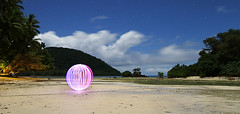 Naigani Orb (Andrew Fleming Photography) Tags: ocean light lightpainting reflection water fiji night reflections painting landscape bay orb andrew fleming lapp andrewfleming naigani naiganiisland abcopen:project=lightpainting