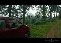we travel less travelled paths (Satish Pandiyattil) Tags: car kerala hilltop mountainhike bonacaud bonakkad