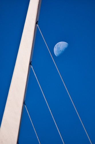 El puente, la mujer y la luna - The bridge, the woman and the moon