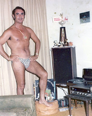 Found photos, collection 3 (habeebee) Tags: man proud vintage pose found necklace underwear random tan posing award odd tennis stereo stuff record 1970s prizes seventies tapes assorted tanned leopardskin hungarian foundphotos droll foundphotography tennisbum elsiegallay