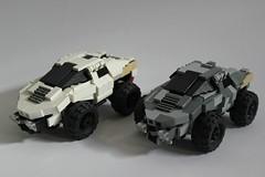 Double Trouble (✠Andreas) Tags: lego military thepurge eulrv thepurgeeu legoarmoredcar legoreconvehicle futuristicarmoredcar