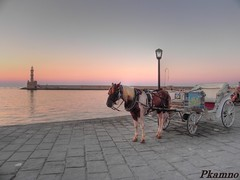 Chania sunset (Pkamno) Tags: sunset summer horse nikon europe dusk hellas greece crete coolpix greekislands oldtown hdr chania oldharbor   canea   mygearandme mygearandmepremium mygearandmebronze nikoncoolpixp100 coolpixp100 ringexcellence dblringexcellence pkamno rememberthatmomentlevel1 rememberthatmomentlevel2 panagiotiskamnorotsis