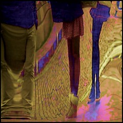 a curious perception (pete ware) Tags: distortion legs slide tourists skirts japanesevisitors nikond7000 photoshopcs5 sliderssunday peteware