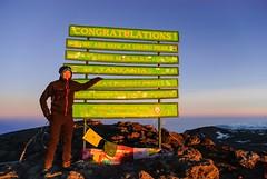Me vs Kilimanjaro - Summit Day (GlobeTrotter 2000) Tags: world africa travel roof mountain snow heritage tourism ice kilimanjaro expedition sign trekking trek tanzania climb day mt top peak visit unesco glacier adventure mount climbing alpine crater summit uhuru clod ascent alpinism kibo alpinist midniht