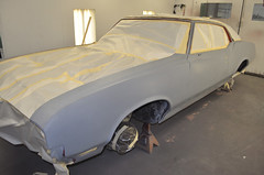"1970 Cutlass SX 455 Coupe Restoration Paint • <a style=""font-size:0.8em;"" href=""http://www.flickr.com/photos/85572005@N00/8151114488/"" target=""_blank"">View on Flickr</a>"