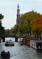 Amsterdam (Annemieke Proze) Tags: holland water amsterdam canal herfst thenetherlands gracht westertoren woonboot annemiekeprozee