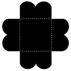 4-fold petal card template (Charlotte Clarke Geier) Tags: computer print crafts digitalart computercrafts