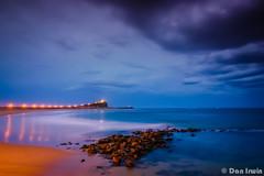 Nobbys Beach (Explored) (ShortyDan) Tags: sunset storm beach canon newcastle rocks nobbys
