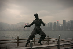 Bruce Lee (cpw123) Tags: street winter 6 statue night stars boats photography march harbour sony bruce ships markets peak victoria hong kong lee alpha avenue kowloon 2014 nex cpwebbcom
