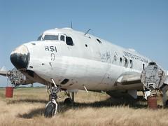 Chico 27-4-04 C-54 wreck (Proplinerman) Tags: aircraft chico douglas airliner dc4 c54 propliner aerounion
