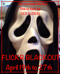 Flickr Blackout Protest (Irene, Montreal, QC) Tags: art protest thescream oldflickr flickrprotests betaflickr wantoldflickr allprotests hatebetaflickr betaprotests artprotestposter wescreaminprotest rubyawardsinvitation