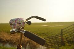 Melissa van Ketel - Fietsen in de zon (Beeldklasa) Tags: warm groen natuur zomer lente zon fietsen weiland fiets zonlicht roze puur spaarnwoude spaarndam fietsbel fijn ontspannen