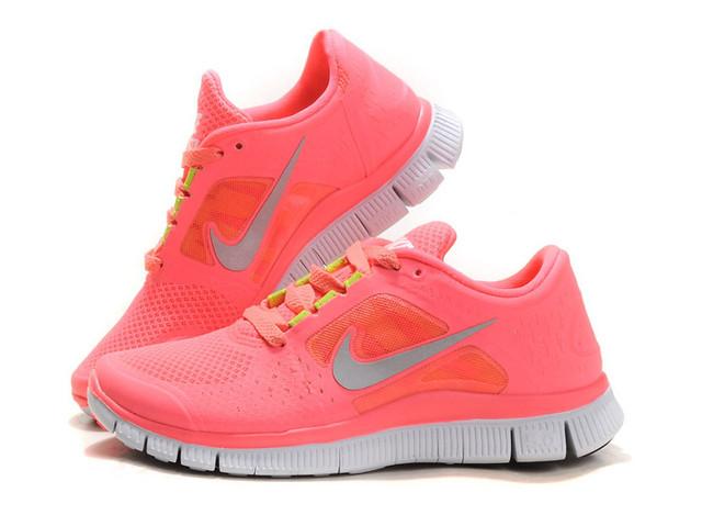 79d9bd792dcf9f Kaufen-Hot-Punch-Nike-Free-Run-3-Damen-Coral-Rosa-Schuhe-AT144 9