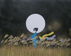 - Gold Grassland (Minori Shimizu - Kyo Origami) Tags: moon art japan japanese gold origami wind  grassland minori doro shimizu        prateria