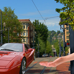 Magic (swong95765) Tags: road street sports car hand magic levitation belief ferrari wierd vehicle beyond unusual powers magical levitate wizardry