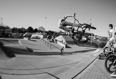 flying (Ral Simn) Tags: blackandwhite blancoynegro bmx monochromatic rider monocromtico