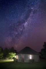 Milky Way Galaxy seen from South Africa (Label 89) Tags: africa sky night canon way stars addo lights cabin nacht african south kitlens roadtrip lodge clear hut galaxy afrika 1855mm milky helder edit melkweg zuid lampen f35 sterren verlichting 550d gopro chrislin