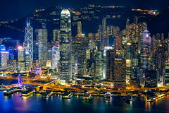 Pearl of the Orient (3dgor ) Tags: landscape hongkong cityscape nightscape pentax k1 victoriaharbour victoriaharbor centraldistrict pearloftheorient pearloftheeast smcpfa77mmf18