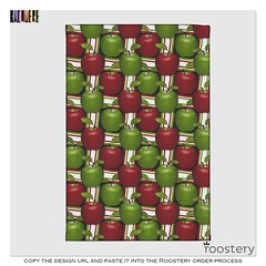 Apples_Tea_Towel_ROOSTERY_MOCKUP (vannina_sf) Tags: red white green apple fruit pattern tea stripes towel canvas textile fabric cotton realistic spoonflower roostery