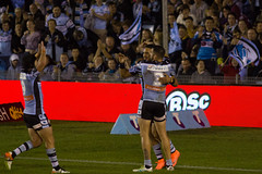 Sharks v Sea Eagles Round 11 2016_098 (alzak) Tags: sea bird sport jack michael rugby manly valentine celebration sharks ennis try holmes eagles league cronulla nrl 2016