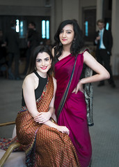 Ladies in Saree (Sheng P.) Tags: girls college st dinner zeiss dress indian sony 55mm oxford saree oxfordshire a7 antonys fe55mmf18za sonnartfe1855